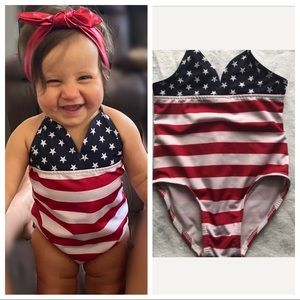 American Flag swimsuit - Size 24 months